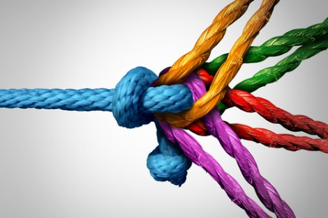 Coloured ropes combine
