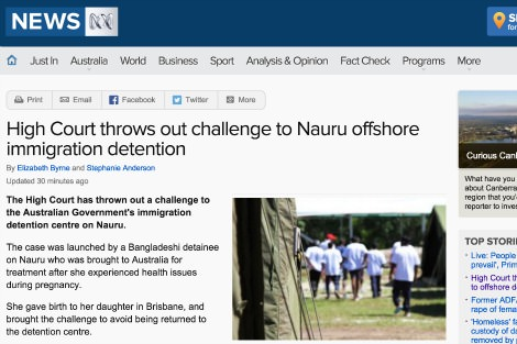 ABC report on Nauru story