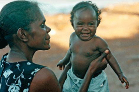 Aboriginal woman and baby