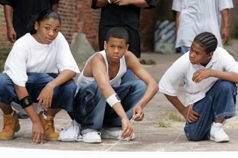 Namond, Michael and Randy in The Wire Season 4