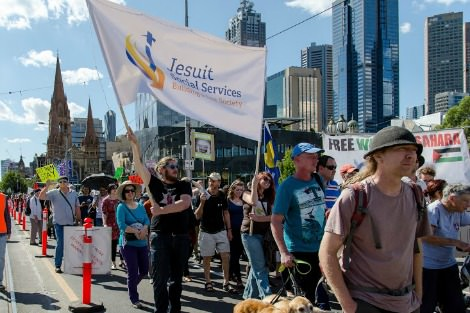 Palm Sunday march in Melbourne