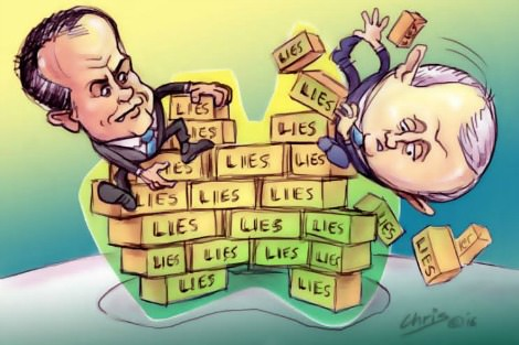 Shorten and Turnbull Humpty Dumptys