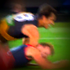 Alex Rance hit on Jack Watts