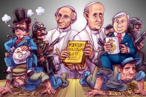 Chris Johnston cartoon shows Pope Francis receiving legacy from Pope Leo