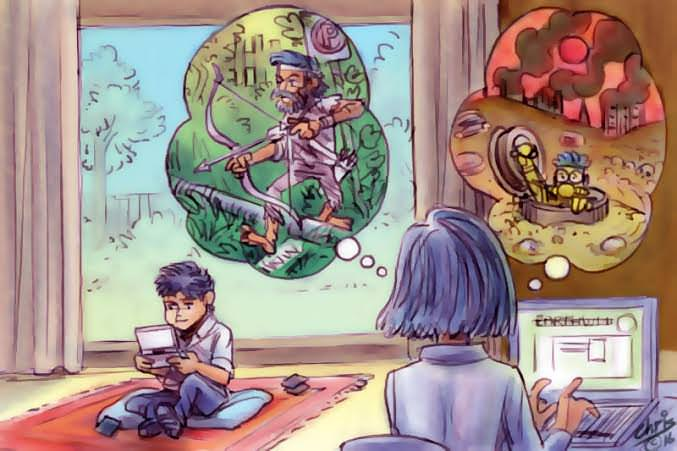 Chris Johnston cartoon has writer imagining different post-climate futures for her young son