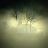 House in mist