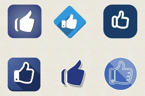 Facebook like icons