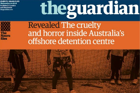 The Guardian Nauru Files front page