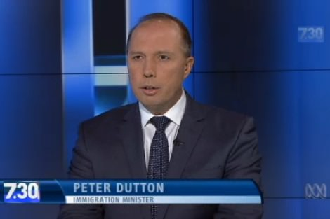 Peter Dutton on 7.30