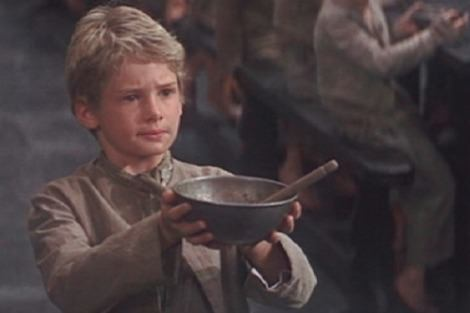 Mark Lester in Oliver Twist movie