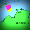 Map showing maritime boundaries and Timor Gap
