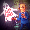 Malcolm Turnbull with Mediscare ghost cutout
