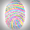Colourful thumbprint