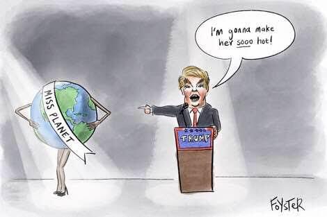 Donald Trump climate cartoon by Greg Foyster