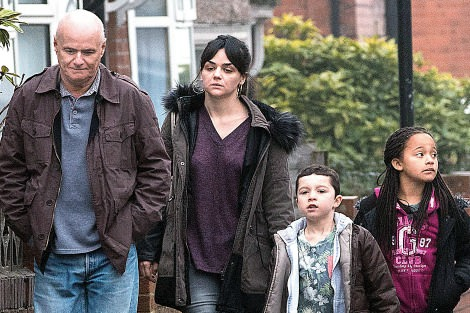Dave Johns and Hayley Squires in I, Daniel Blake