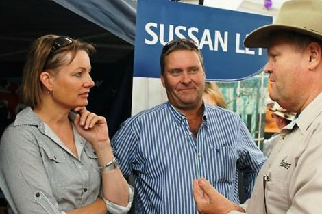 Sussan Ley talks to voters