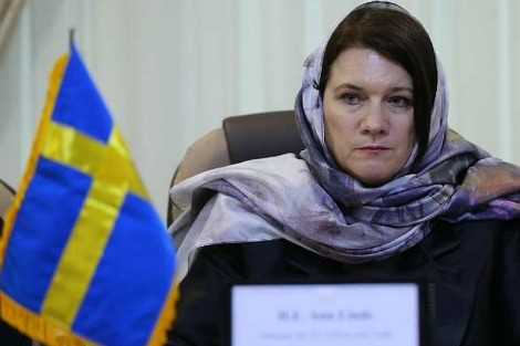 Swedish Trade Minister Ann Linde in the hijab