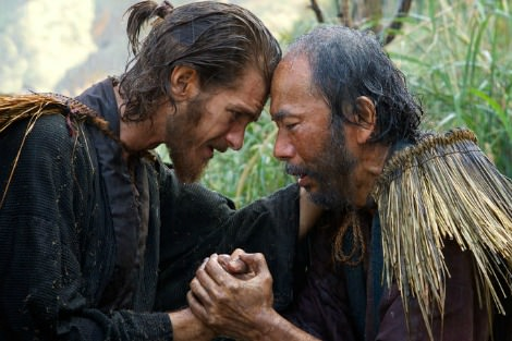 Andrew Garfield and Japanese actor in Silence