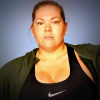 Model wearing Nike's plus-size range
