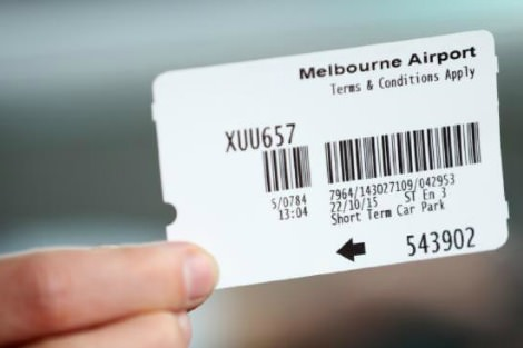 Melbourne airport parking ticket