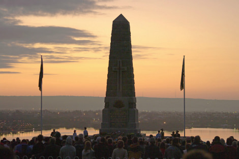 Anzac Day Dawn Service at Kings Park, Western Australia