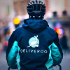Deliveroo bicycle delivery person