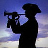 Anzac Day bugler