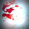 Blood-stained sheet