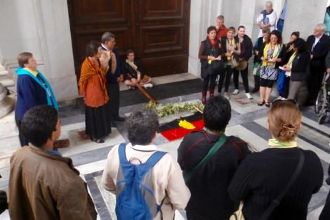 Gathered at St Paul's Outside the Walls commemorating Francis Xavier Conaci