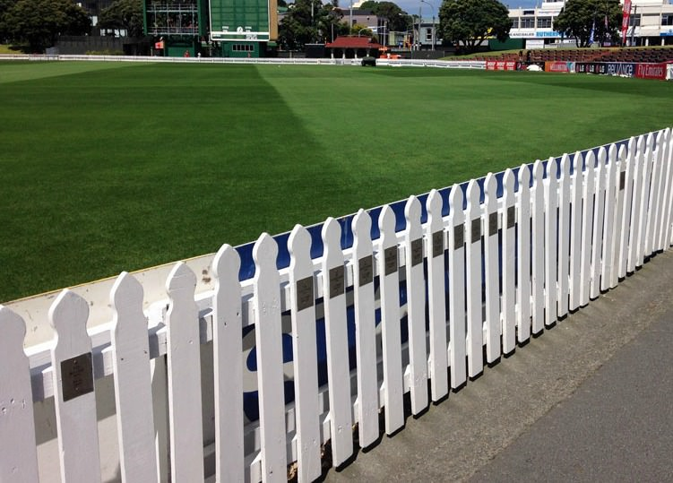 Picket fence around cricket oval