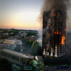 Grenfell Tower aflame