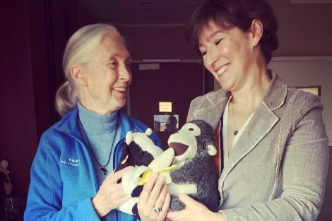 Jane Goodall and Catherine Marshall