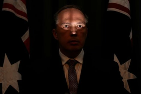 Peter Dutton in shadow