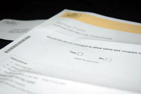 Marriage equality postal vote form
