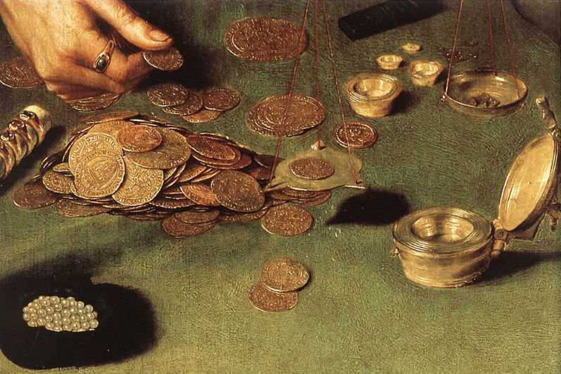 Quinten Massijs (I) - The Moneylender and his Wife (detail)