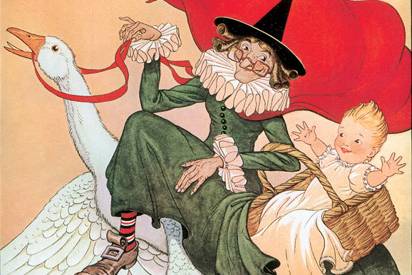 Cover illustration from The Real Mother Goose by Blanche Fisher Wright