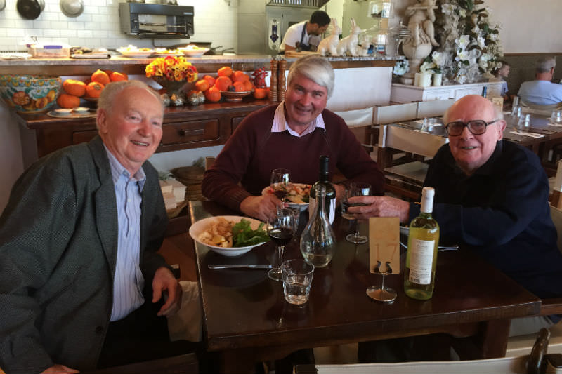 Grove Johnson with his curate Danny Moore and Frank Brennan