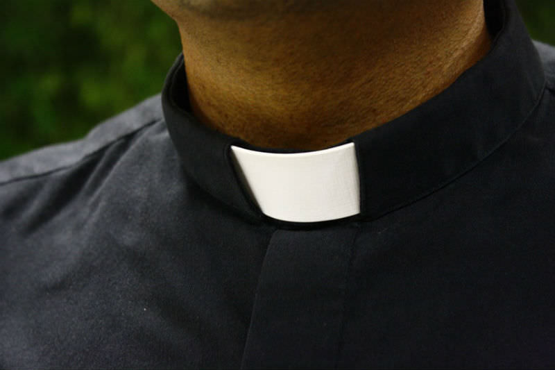 Priest in dog collar