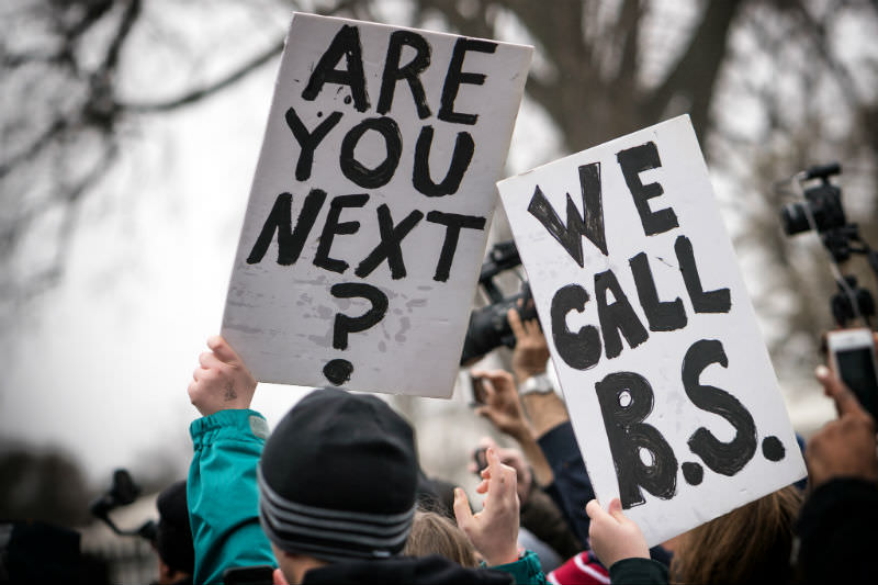 Are You Next? We Call BS, student lie-in at the White House to protest gun laws (Lorie Shaull/Flickr)