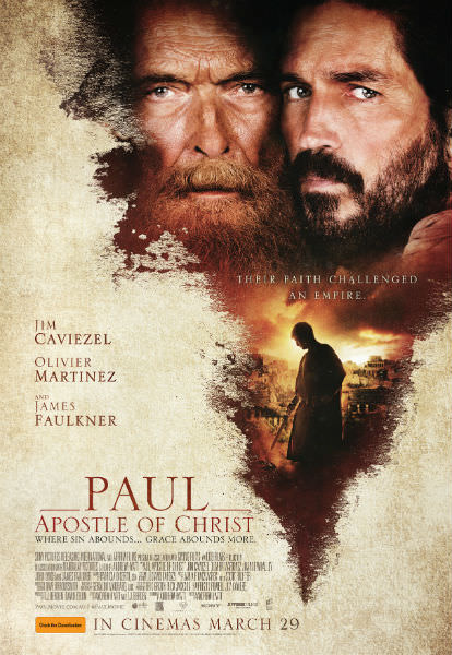 Paul, Apostle of Christ movie poster ©2018 CTMG. All Rights Reserved