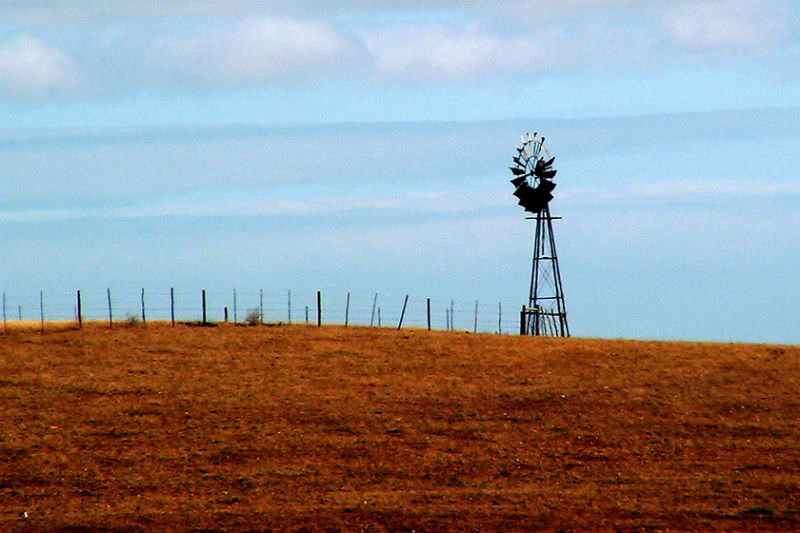 Windmill on South African farm
