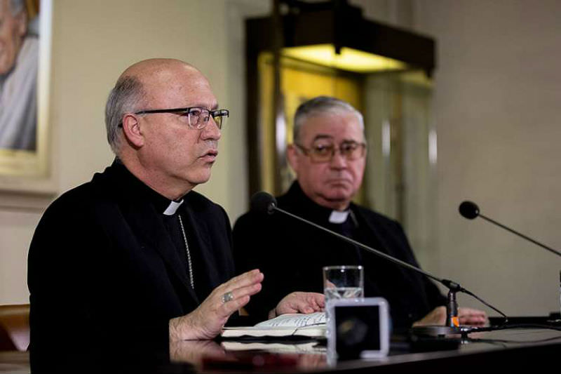 Press briefing with Chilean bishops in Rome, May 14, 2018. Credit: Daniel Ibanez/CNA
