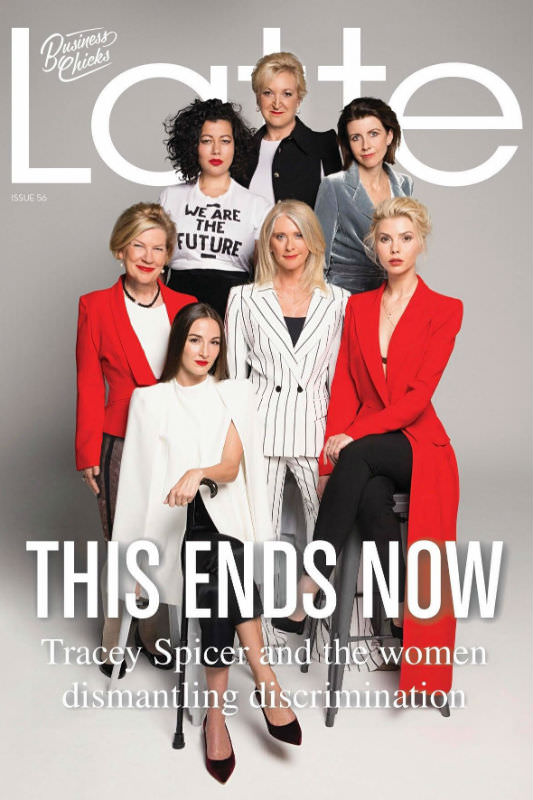 Latte Magazine cover featuring Tracey Spicer and other women