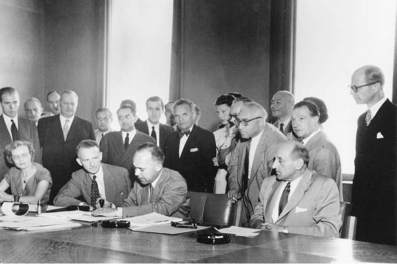The Geneva Refugee Convention was adopted on 28 July 1951 and opened for signature. ©UNHCR/UN Archives/ARNI