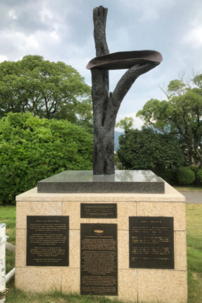 Memorial at Nagasaki peace park