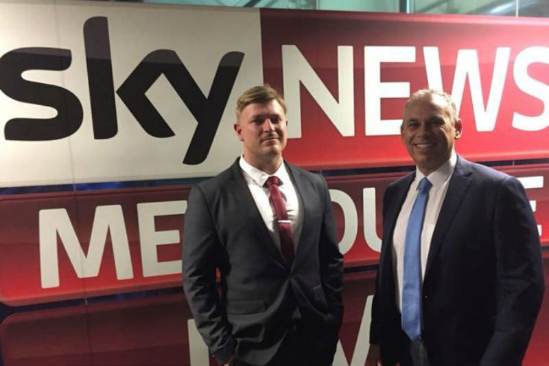 Main image: Former NT chief minister Adam Giles interviewed former United Patriots Front leader Blair Cottrell on his Sunday Sky News program, the Adam Giles Show (Facebook: @realblaircottrell)