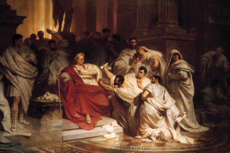 Painting of Caesar's death
