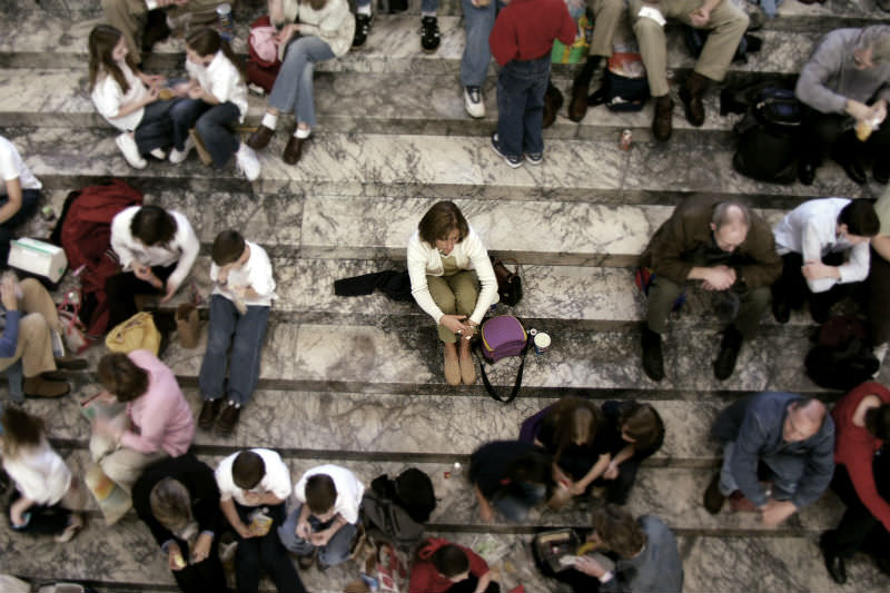 Alone in a crowd (iStock/Getty Images Plus)