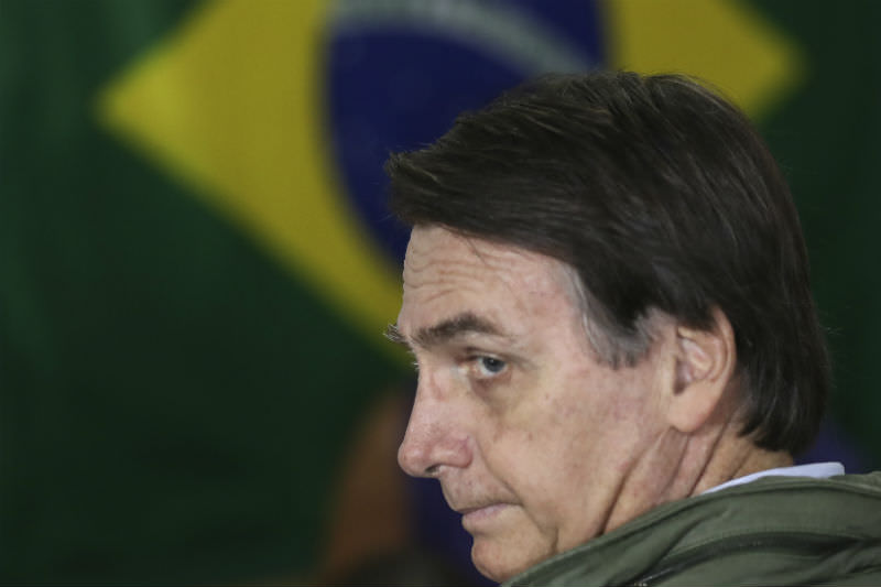 Brazilian Presidential Candidate Jair Bolsonaro votes in the country's election (Ricardo Moraes-Pool/Getty Images)
