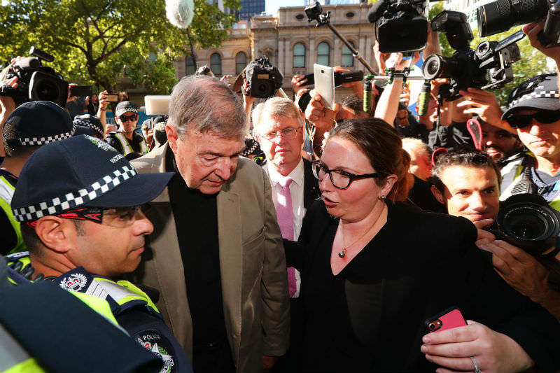 George Pell arrives at Melbourne County Court on 27 February 2019. (Photo by Michael Dodge/Getty Images)